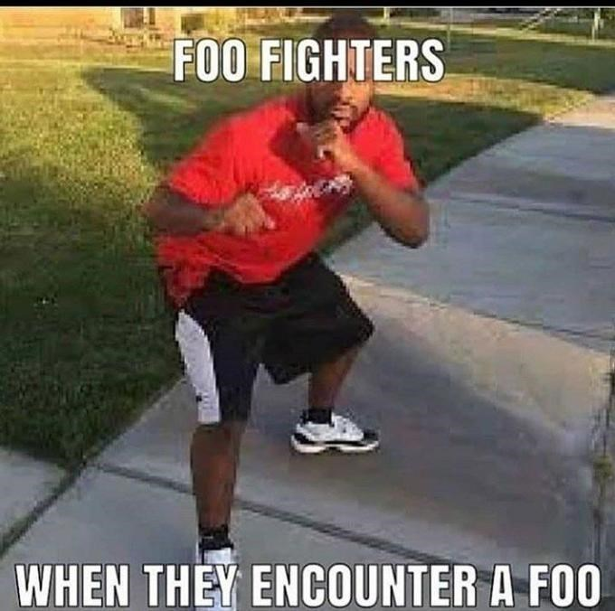 Joint - FOO FIGHTERS WHEN THEY ENCOUNTER A FOO