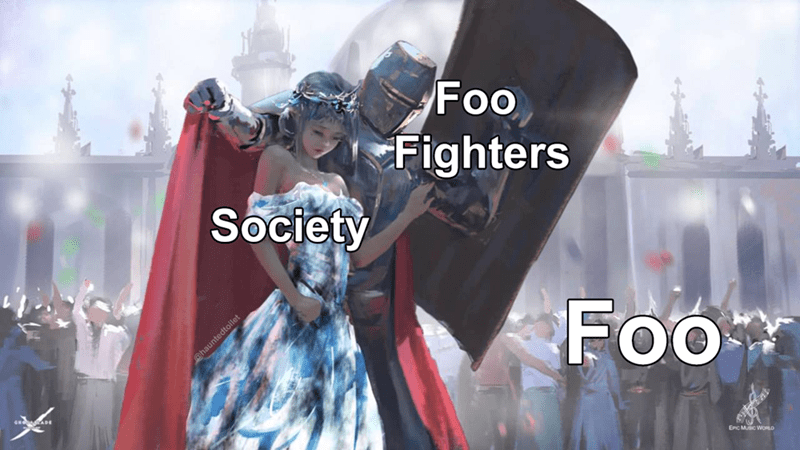 Fashion - Foo Fighters Society Foo Enc Mic WORLD @hauntedtoilet