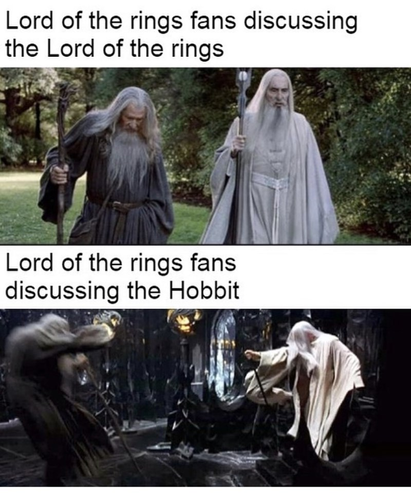Outerwear - Lord of the rings fans discussing the Lord of the rings Lord of the rings fans discussing the Hobbit