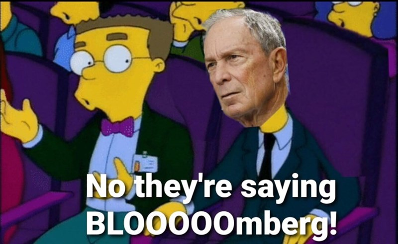 Cartoon - No they're saying BLOO000mberg!