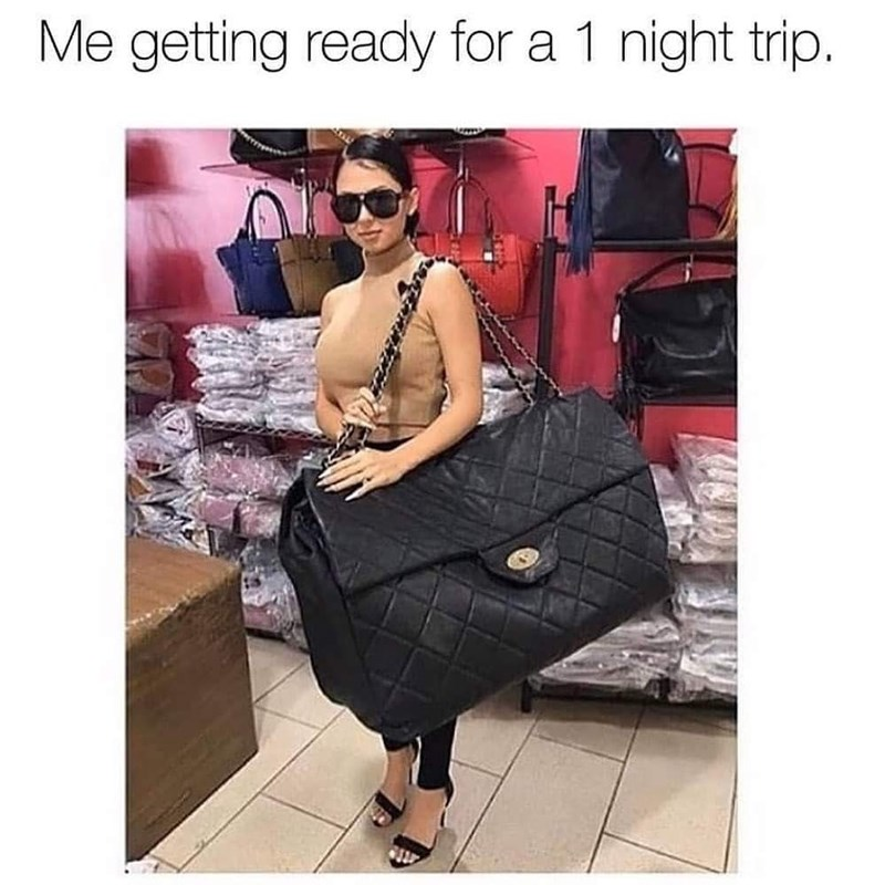 Bag - Me getting ready for a 1 night trip.
