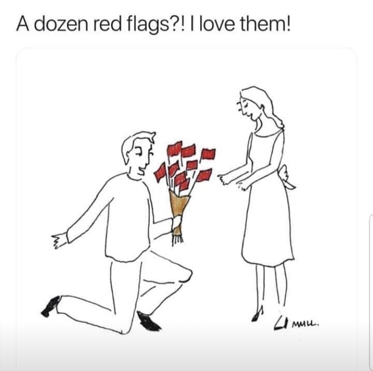 People - A dozen red flags?! I love them! MMLL.