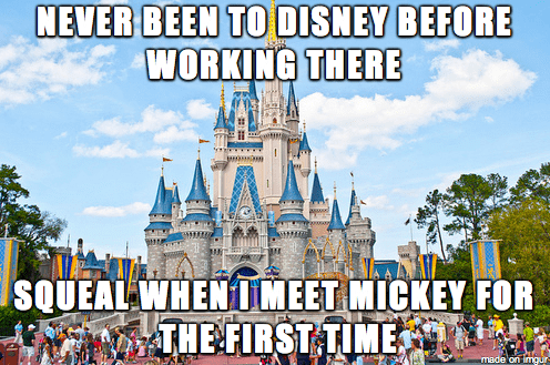 Walt disney world - NEVER BEEN TO DISNEY BEFORE WORKING THERE SQUEAL WHEN MEET MICKEY FOR THE FIRST TIME made'on imngur