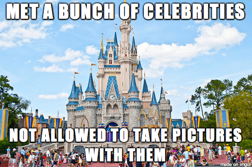 Walt disney world - MET A BUNCH OF CELEBRITIES NOT ALLOWED TO TAKE PICTURES WITH THEM made'on imgur