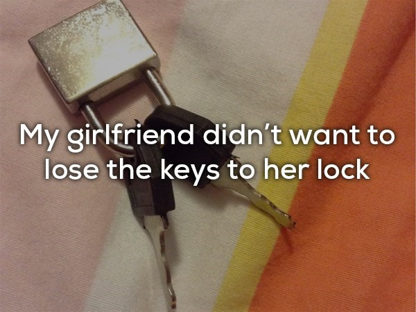 Cable - My girlfriend didn't want to lose the keys to her lock