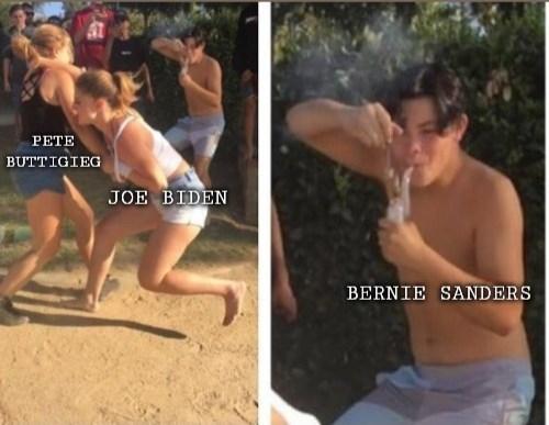 Barechested - PETE BUTTIGIEG JOE BIDEN BERNIE SANDERS