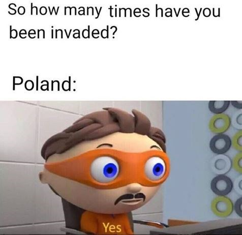 Animated cartoon - So how many times have you been invaded? Poland: Yes