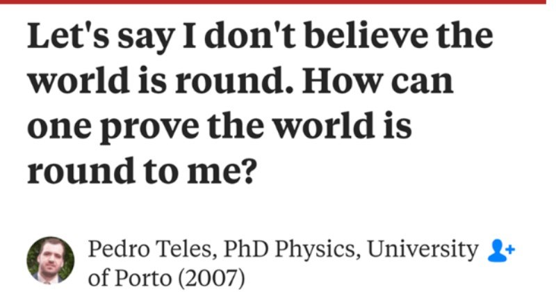 Physics professor smoothly dismantles flat earth theory.