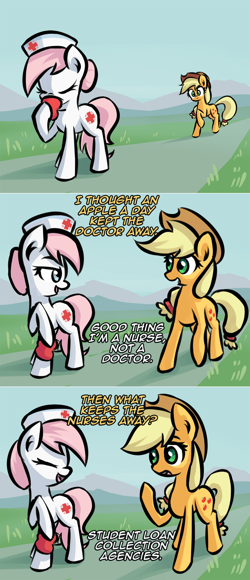 applejack ask pun nurse redheart - 9445408256