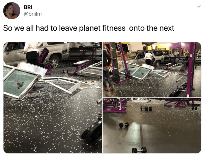 Technology - BRI @briilm So we all had to leave planet fitness onto the next