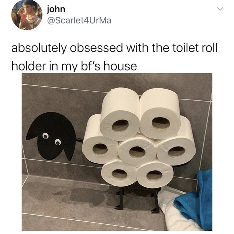 Product - john @Scarlet4UrMa absolutely obsessed with the toilet roll holder in my bf's house