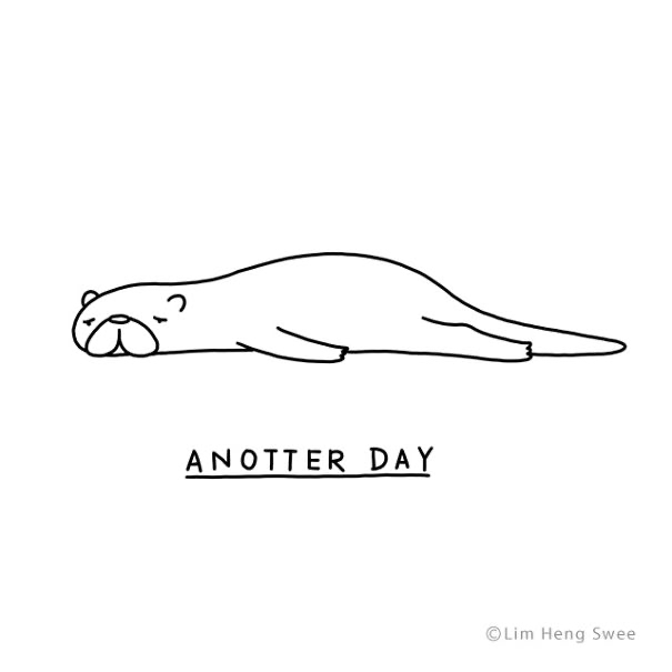 Line art - ANOTTER DAY ©Lim Heng Swee