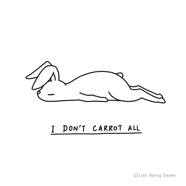 Line art - I DON'T CARROT ALL ©Lim Heng Swee