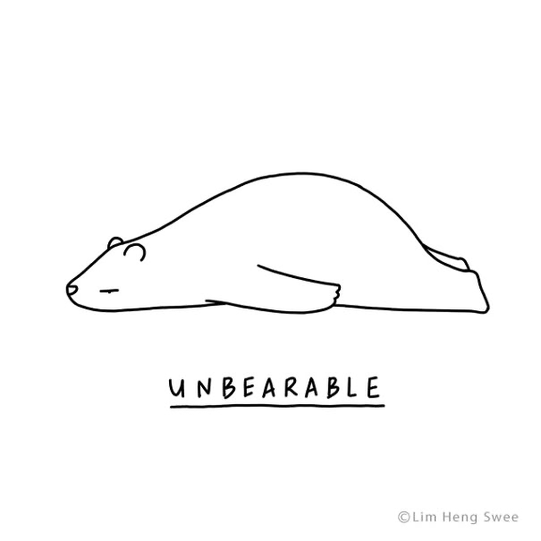 Line art - UNBEARABLE © Lim Heng Swee