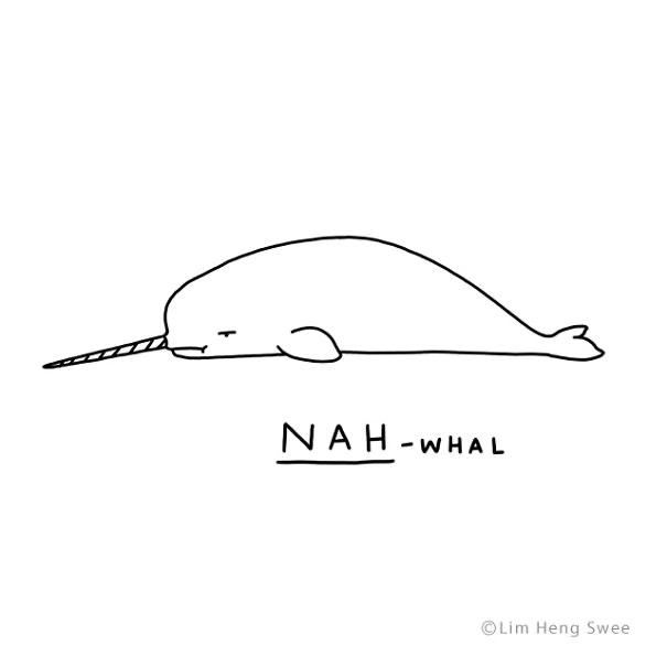 Line art - NAH-WHAL ©Lim Heng Swee