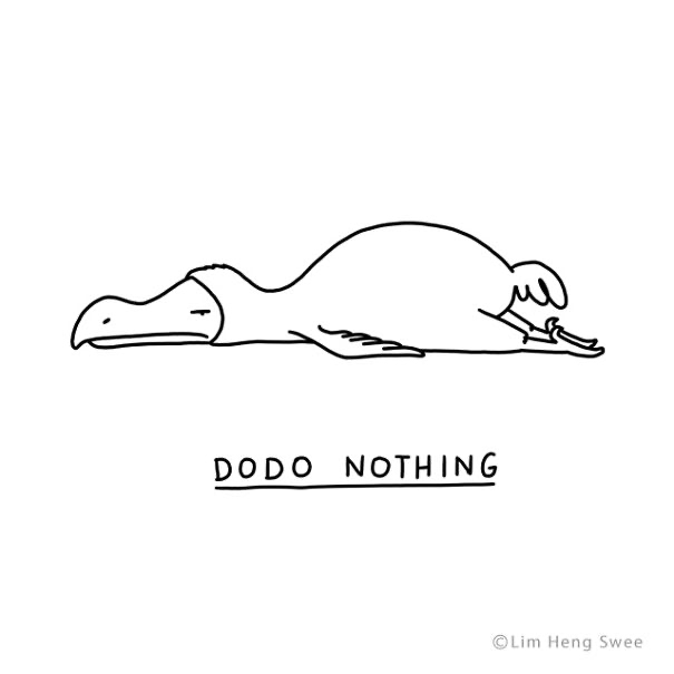 Line art - DODO NOTHING ©Lim Heng Swee
