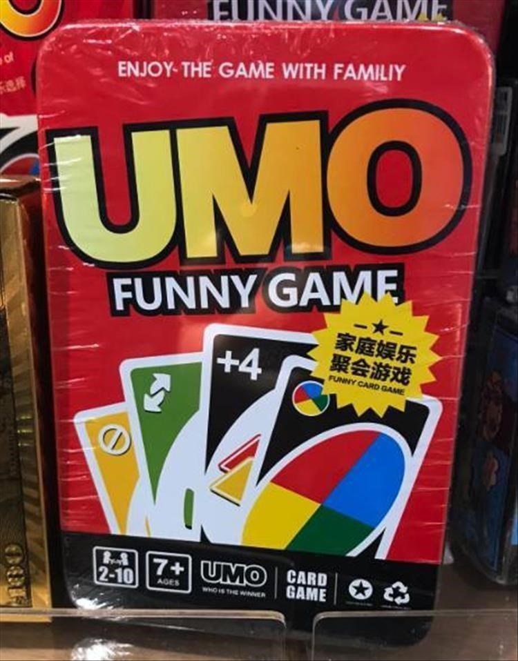 Games - INY GAME of ENJOY- THE GAME WITH FAMILIY UMO FUNNY GAME +4 -*- 家庭娱乐 聚会游戏 FUNNY CARD GAME 7+UMO CARD GAME 2-10 AGES WHOIS THE WINNER Ky