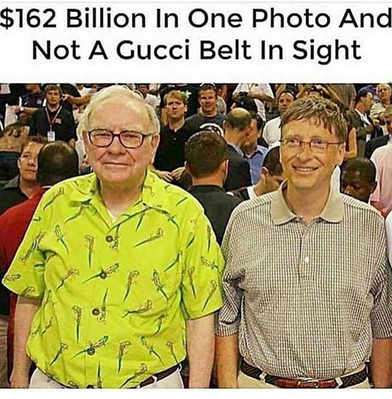 People - $162 Billion In One Photo And Not A Gucci Belt In Sight