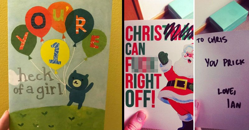 Funny greeting cards people changed and edited themselves.