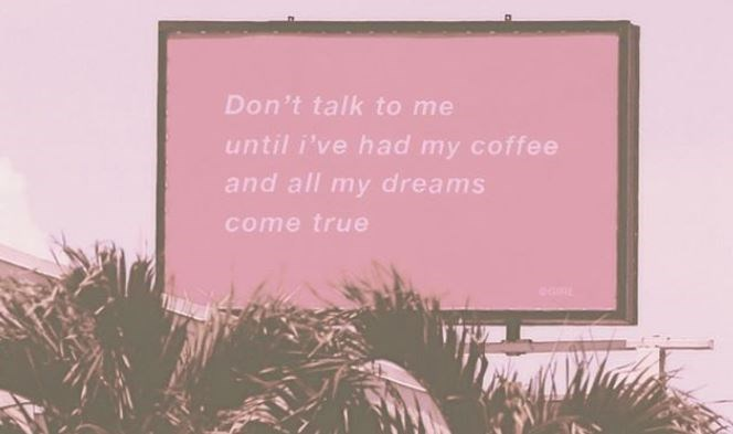 Pink - Don't talk to me until i've had my coffee and all my dreams come true