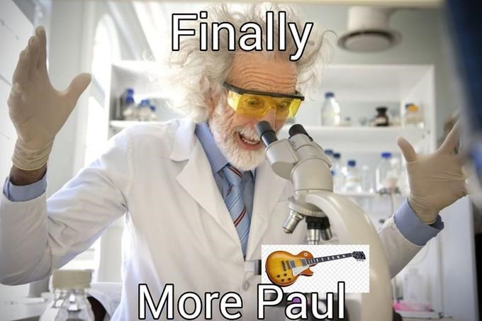 Chemical engineer - Finally More Paul