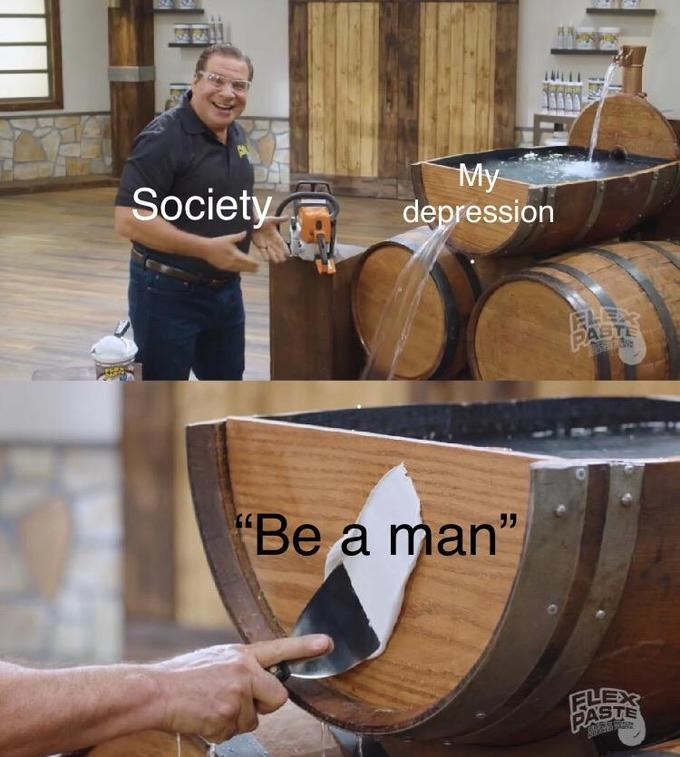 "Barrel - Society My depression ELEAR PASTE ""Be a man"" FLEX PASTE"