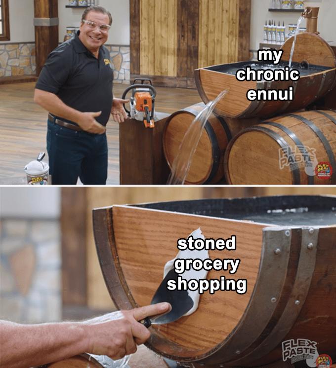 Barrel - my chronic ennui PASTE stoned grocery shopping ELEX PASTE ী
