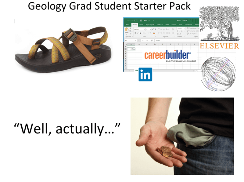 """Footwear - Geology Grad Student Starter Pack Bookt - Excel Page Layout formulas Data Review View Developer Ads-i Custom S- % PFormat as Table ll Styles Paste A. Cipboard Font Aligament Numben 02-02 ELSEVIER 2feb careerbuilder EMPOWERING EMPLOYMENT in """"Well, actually.."""""""