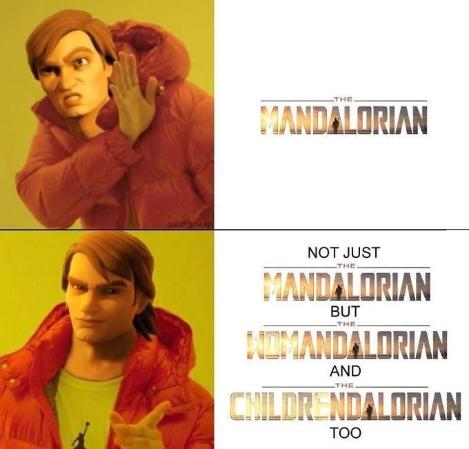 Hair - THE MANDALORIAN SOLID NARK NOT JUST THE MANDALORIAN BUT THE NIMANDALORIAN AND THE CHILDRENDALORIAN TOO