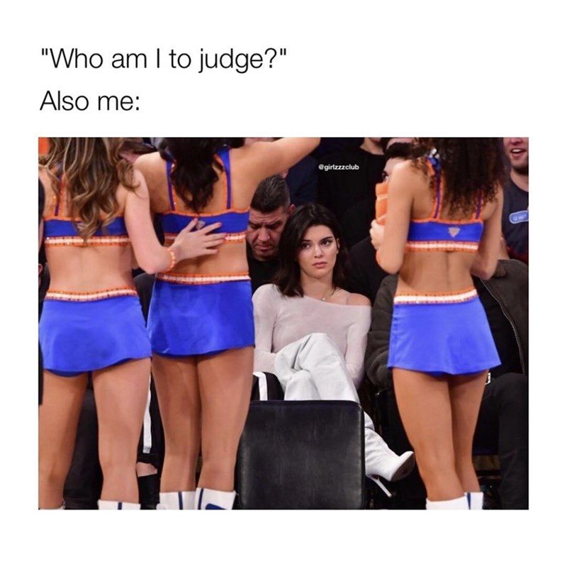 "Clothing - ""Who am I to judge?"" Also me: @girlzzzclub"