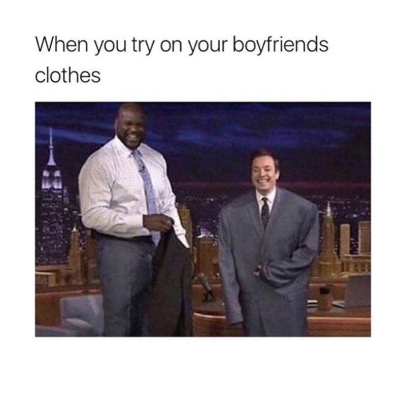 Suit - When you try on your boyfriends clothes