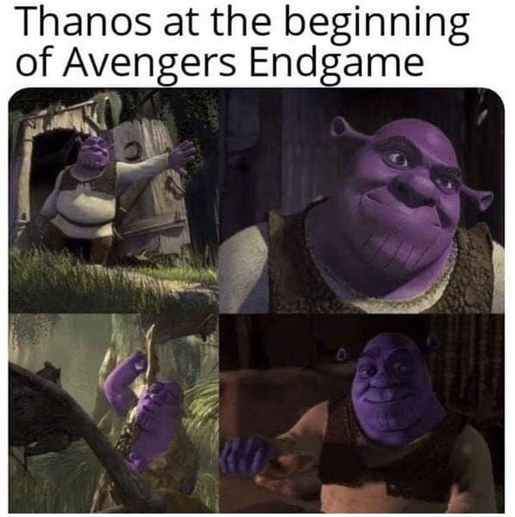 Purple - Thanos at the beginning of Avengers Endgame