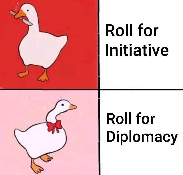 Bird - Roll for Initiative Roll for Diplomacy