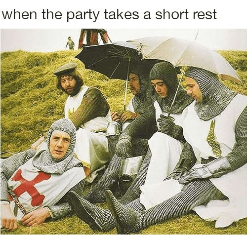 Adaptation - when the party takes a short rest