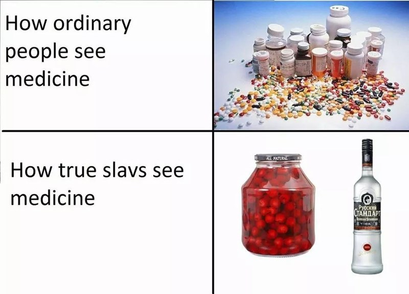 Water - How ordinary people see medicine ALL NATURAL How true slavs see medicine Русски СТАНДАРТ