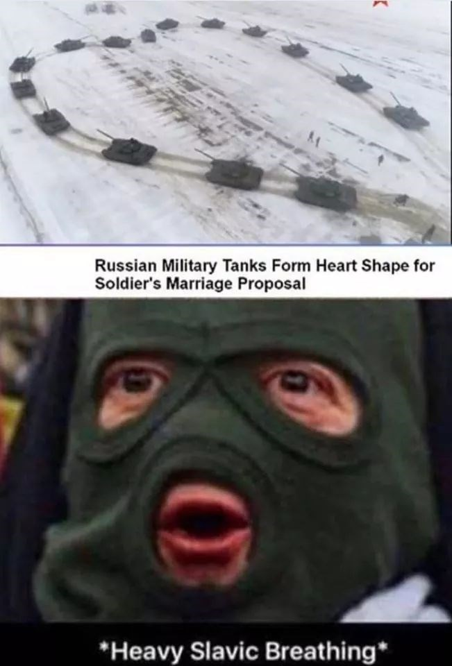 Face - Russian Military Tanks Form Heart Shape for Soldier's Marriage Proposal *Heavy Slavic Breathing*
