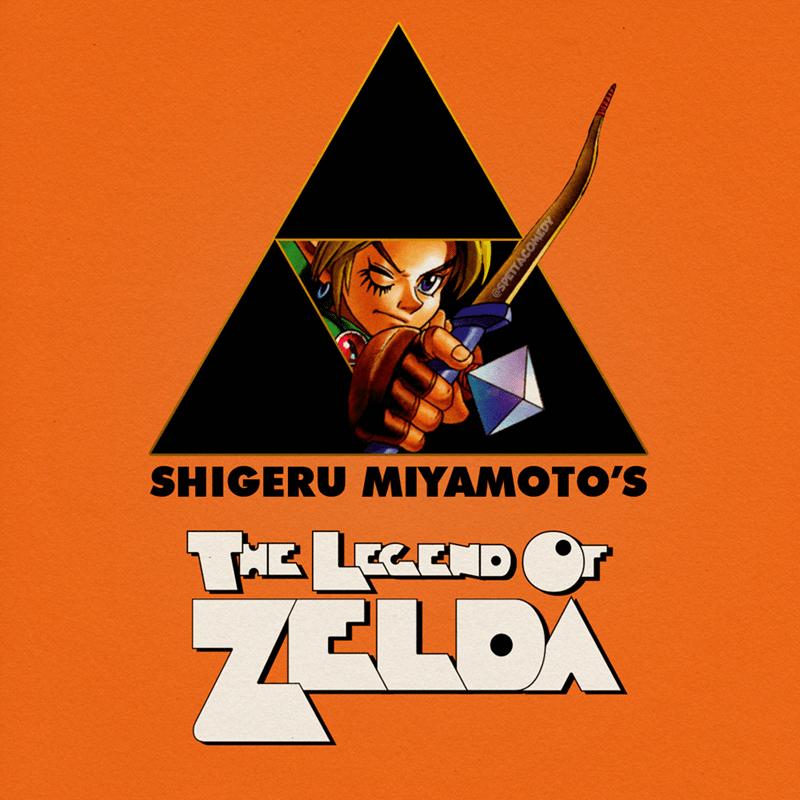 Cartoon - Poster - SHIGERU MIYAMOTO'S THE LEEND Or ZELDA