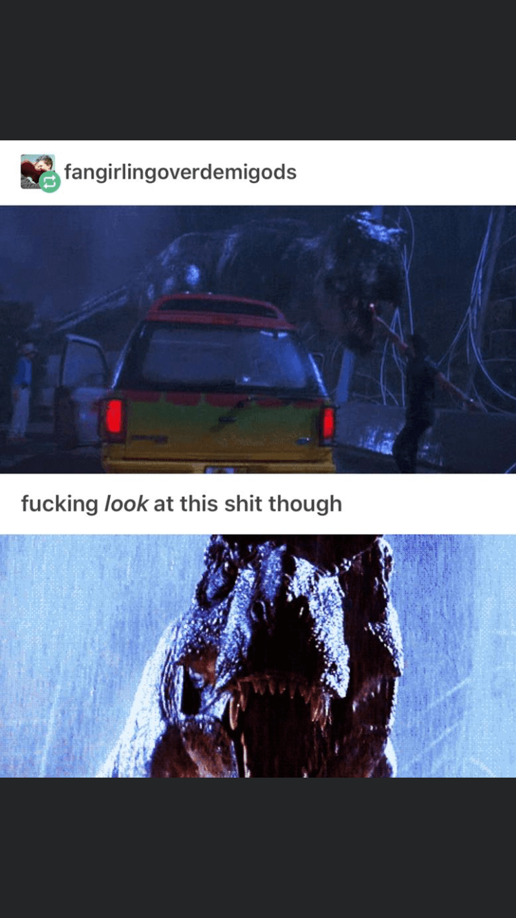 Text - Vehicle door - fangirlingoverdemigods fucking look at this shit though