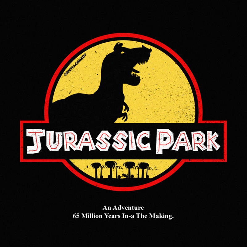 Logo - JURASSIC PARK An Adventure 65 Million Years In-a The Making. @SPETTACOMEDY