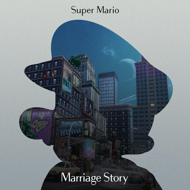 Cartoon - Illustration - Super Mario @SPETTACOMEDY Marriage Story