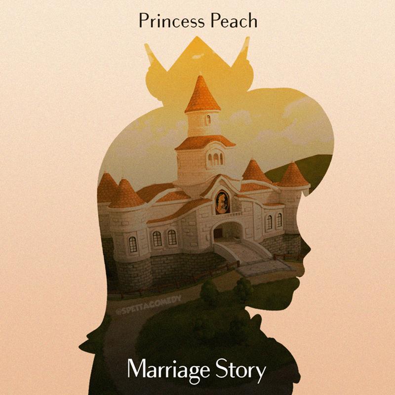 Cartoon - Illustration - Princess Peach OSPETTACOMEDY Marriage Story L GO