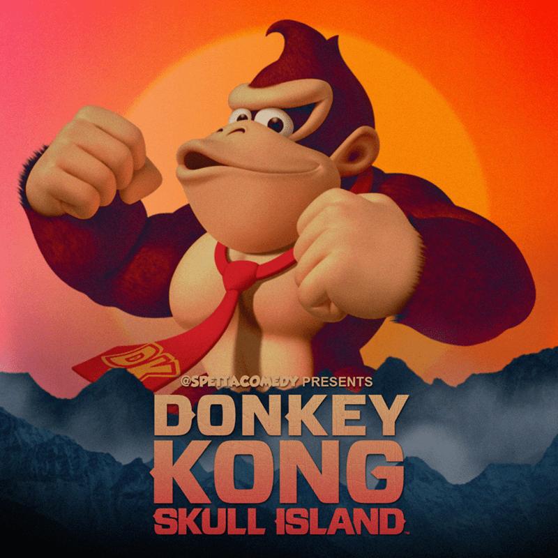 Cartoon - Animated cartoon - @SPETTACOMEDY PRESENTS DONKEY KONG SKULL ISLAND