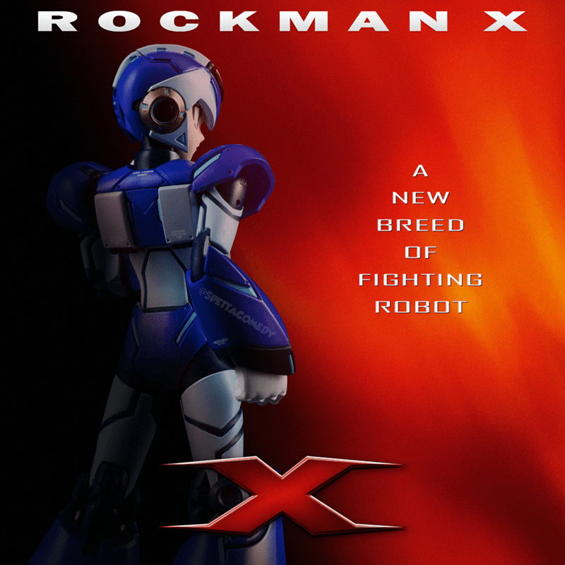Cartoon - Cartoon - R O C K M A N X NEW BREED OF FIGHTING @SPETTACOMEDY ROBOT