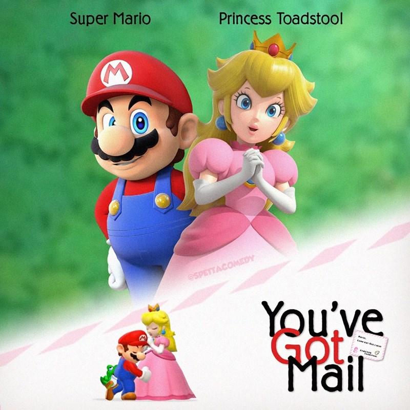 Cartoon - Animated cartoon - Super Mario Princess Toadstool @SPETTACOMEDY You've Got Mail Come et dus.com