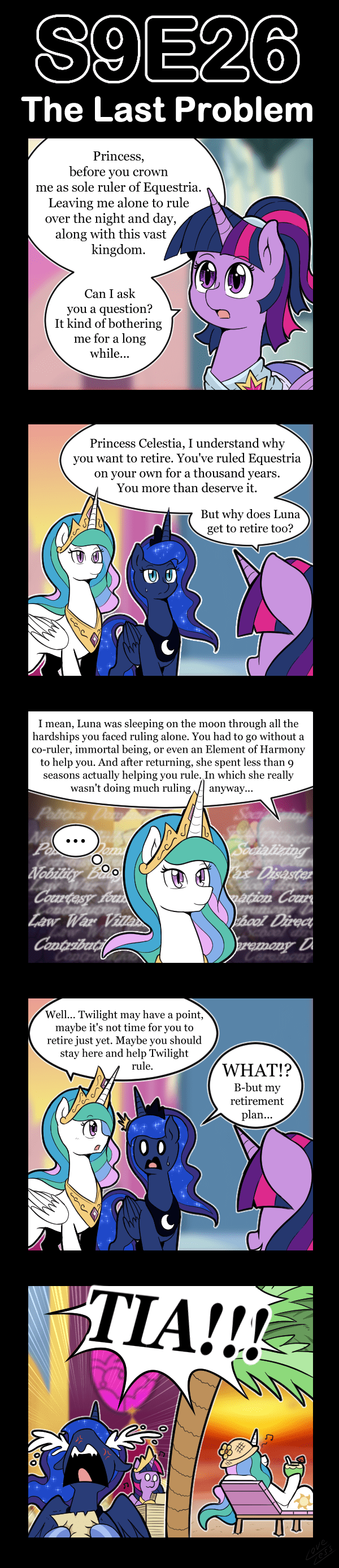 vavacung twilight sparkle princess luna princess celestia the last problem - 9449068288