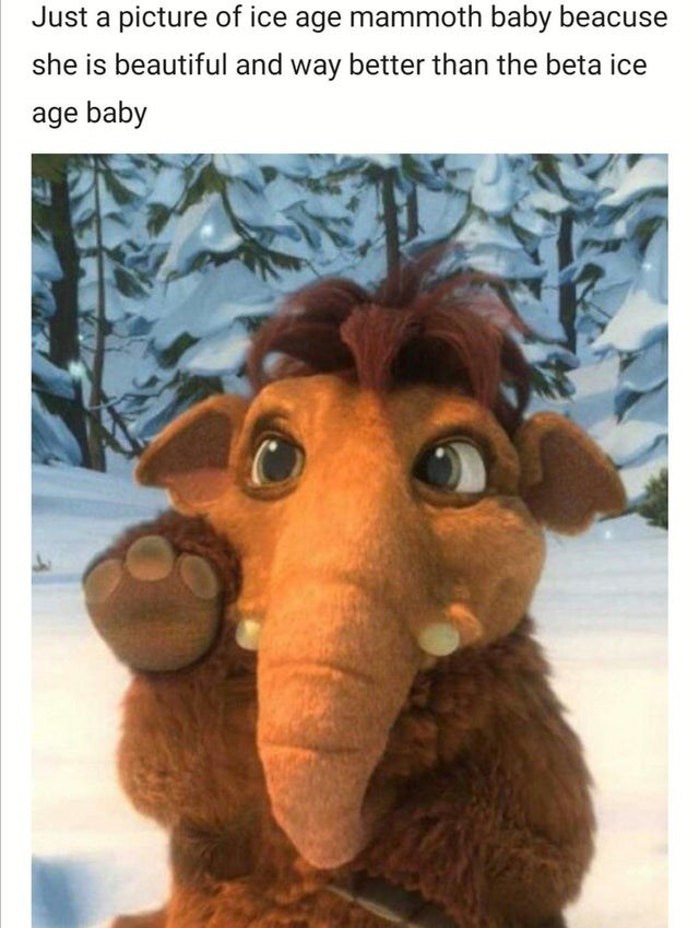 Stuffed toy - Just a picture of ice age mammoth baby beacuse she is beautiful and way better than the beta ice age baby