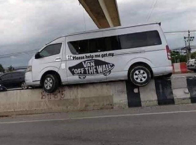 Land vehicle - Please help me get my VAN OFF THE WALL