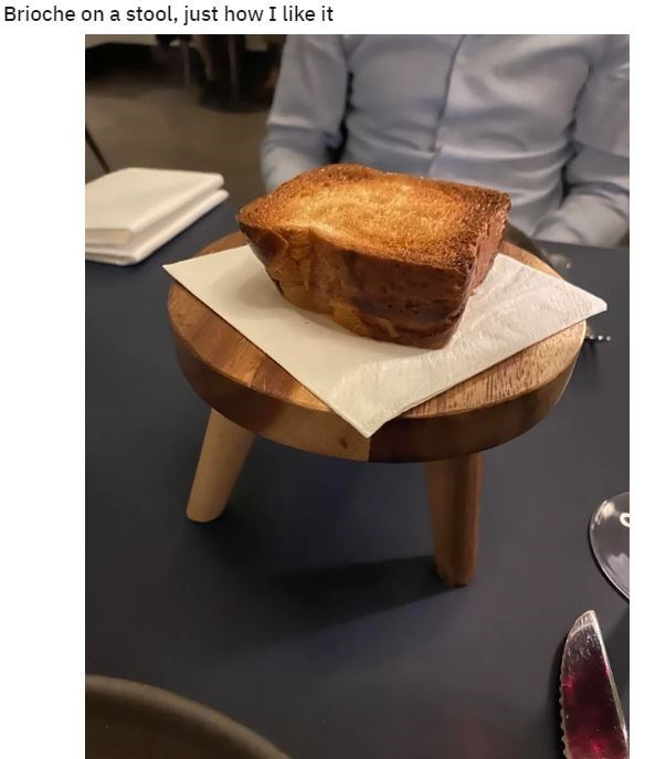Table - Brioche on a stool, just how I like it