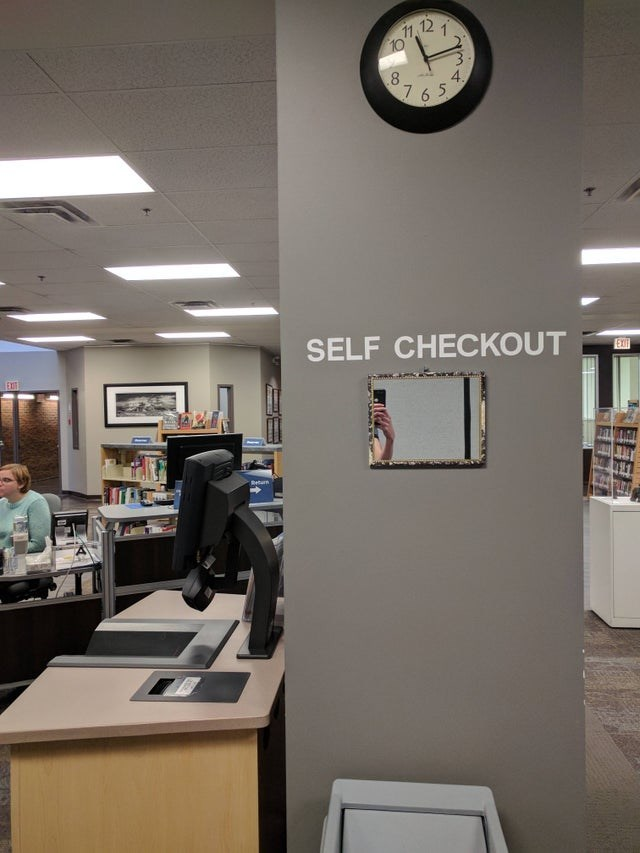 Ceiling - 11 12 1 .8 7. 4. 6 5 SELF CHECKOUT EXIT Beturn