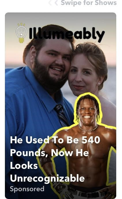People - Swipe for Shows Iumeably He Used To Be 540 Pounds, Now He Looks Unrecognizable Sponsored